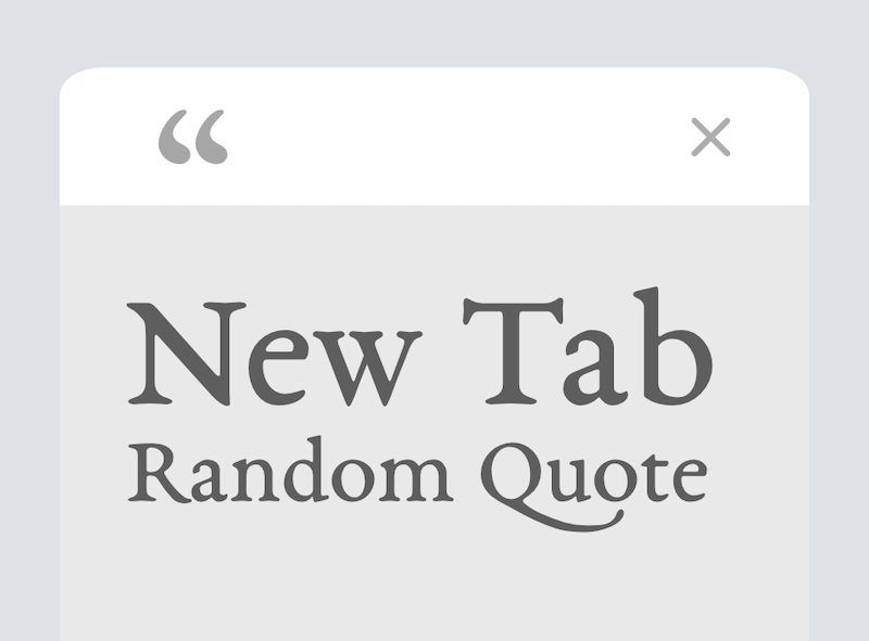 New Tab Random Quote