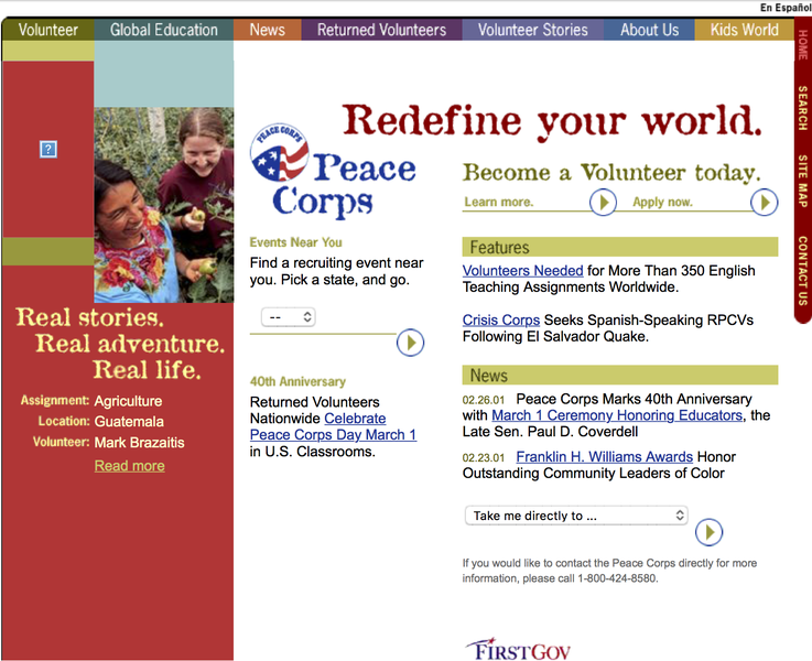 Peace Corps 2001 Screenshot.