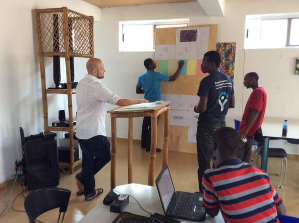 Volunteers at Hub Accra working on @PeaceCorps challenges — Photo Credit: <a href='https://twitter.com/hubaccra/status/564016201048031232'>Hub Accra</a>