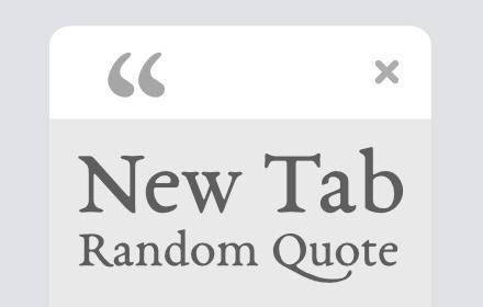 New Tab Random Quote
